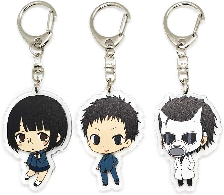 Anime Acrylic Keychain Izaya Orihara Shizuo Heiwajima Celty Set of 3 Durarara!
