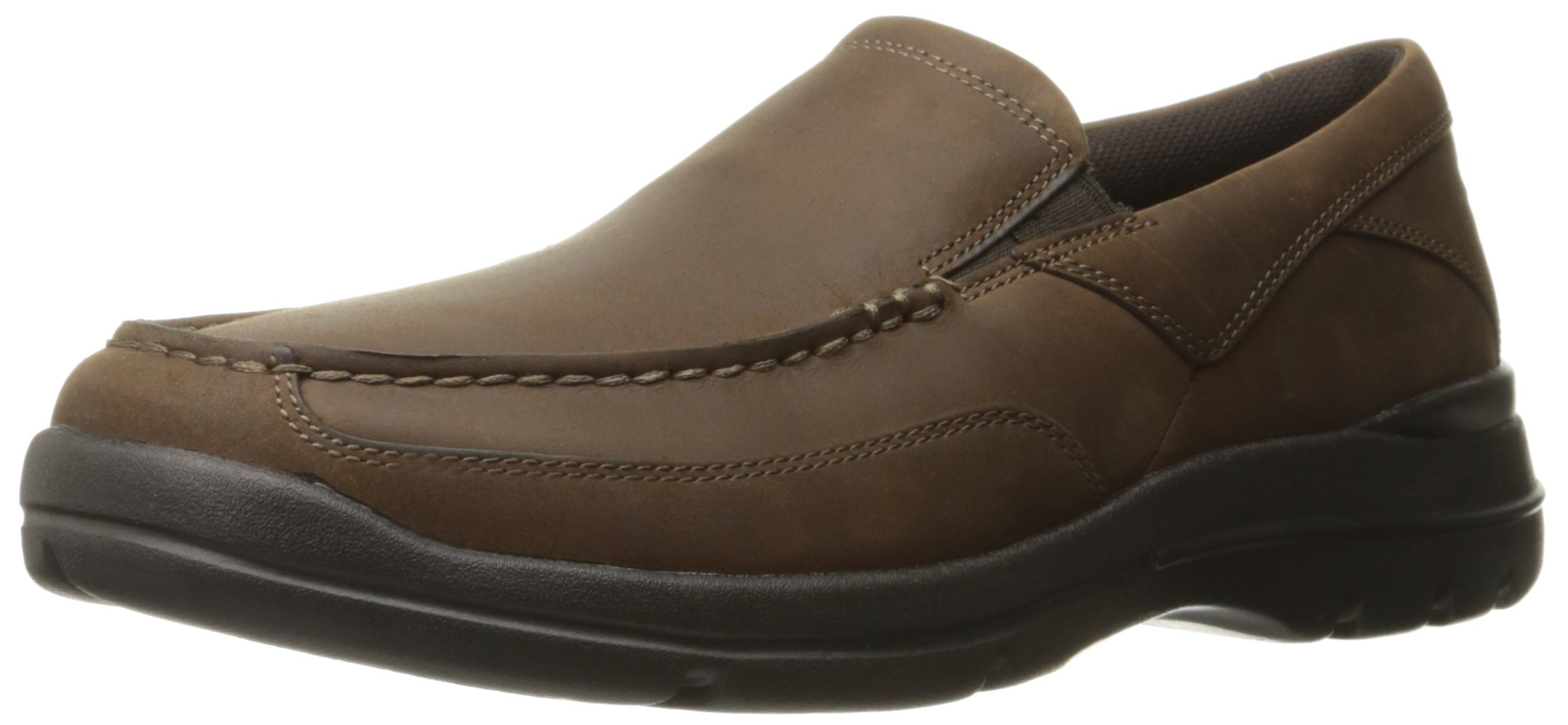 Rockport Men's City Play Two Slip On Oxford, Dark Brown Leather, 9.5 W US