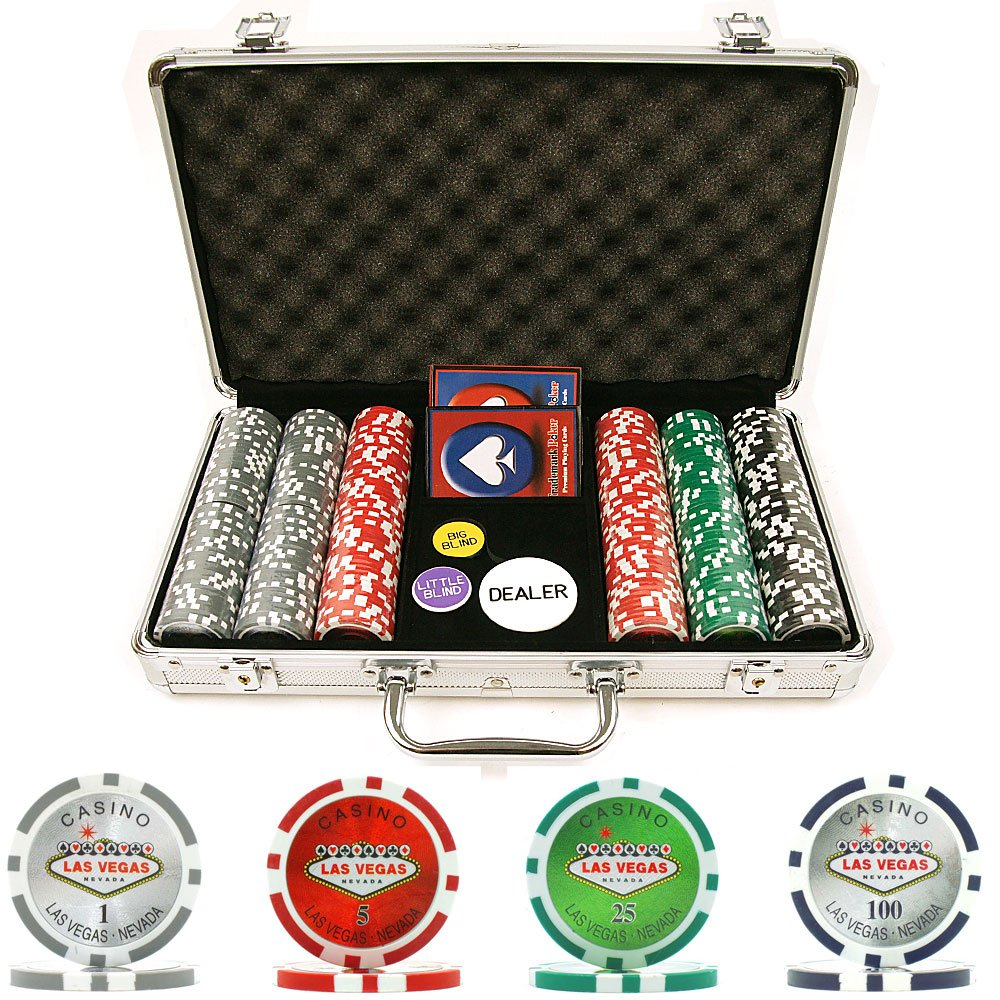 Trademark Poker 300 15-gram Clay Welcome to Las Vegas Chip Set with Aluminum Case 10-0700-3001s