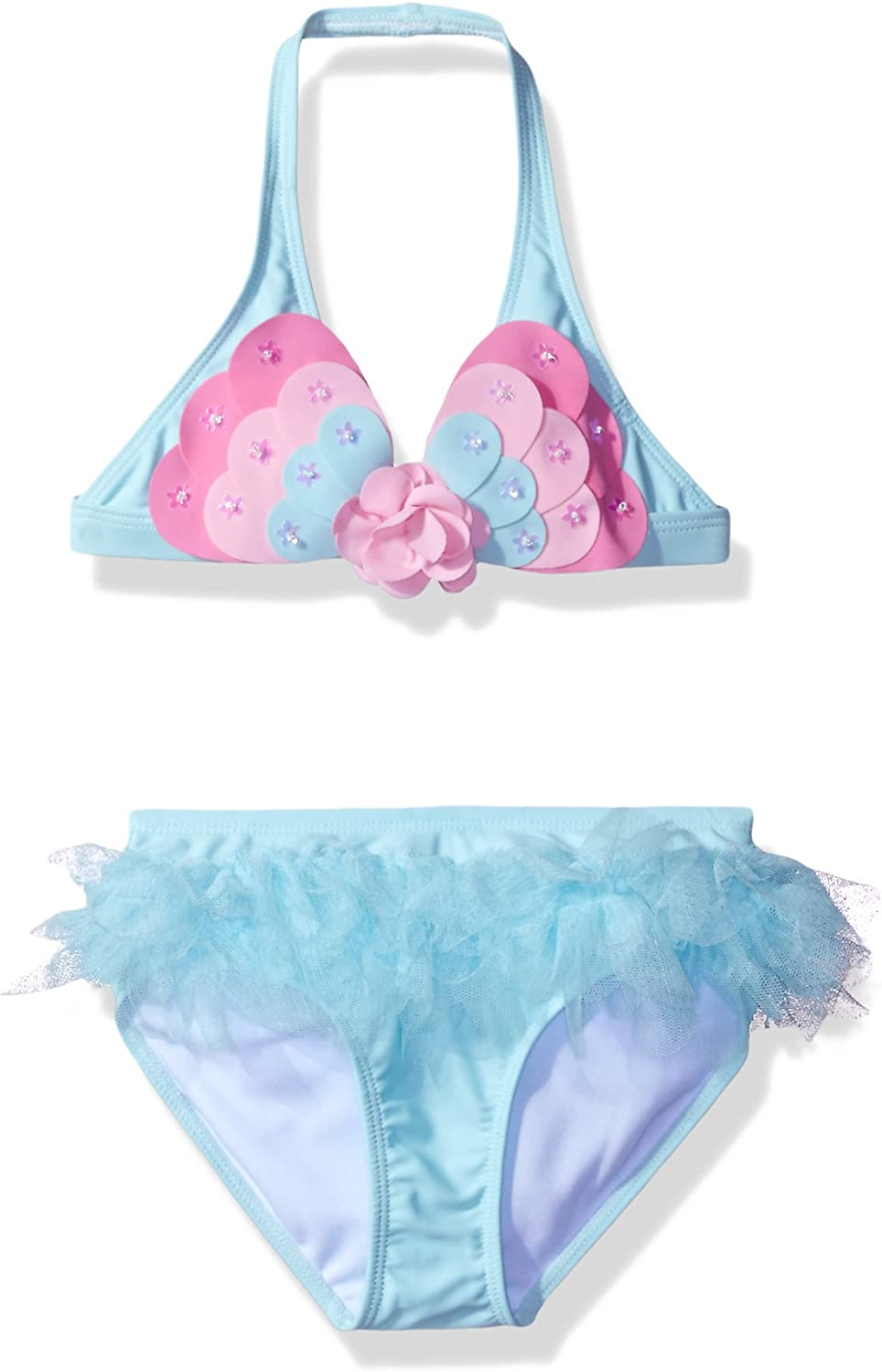 Kate Mack Girls Butterfly Wishes Skirted Bikini Swimsuit