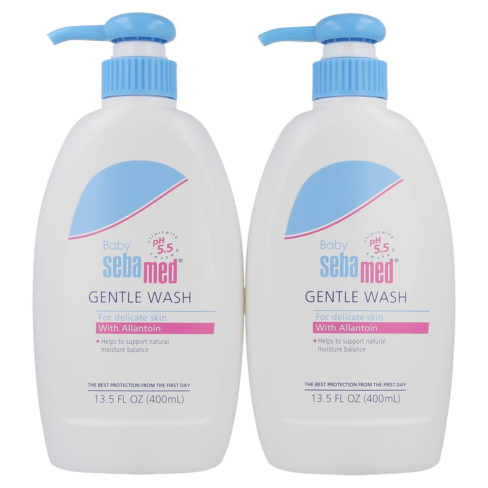 Sebamed Baby Gentle Wash for Delicate Skin with Allantoin Extra Mild Dermatologist Recommended Cleanser 400mL (13.5 Fluid Ounces) Pack of 2 by SEBAMED