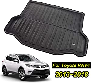 XUKEY for Toyota RAV4 2013 2014 2015 2016 2017 2018 Boot Mat Rear Trunk Boot Liner Cargo Floor Tray Carpet Mud Pad Kick Guard Cover Protector Decoration Car Accessories