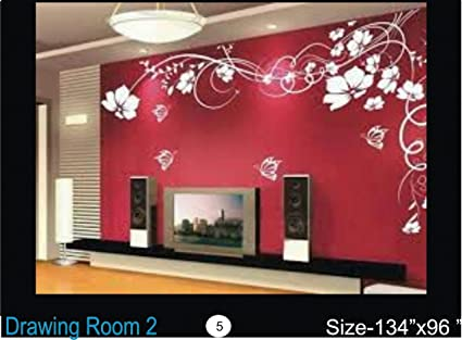 Buy Drawing Room 2 Wall Stencil 96x134 Multicolour 2 Online At