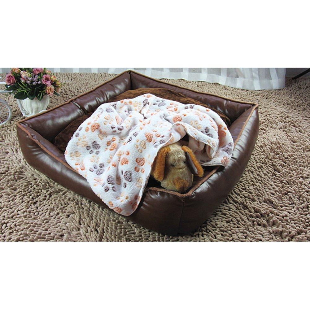 coperta cuscino per piccoli animali domestici letto morbido e caldo con motivo a forma di zampine cani e gatti GossipBoy