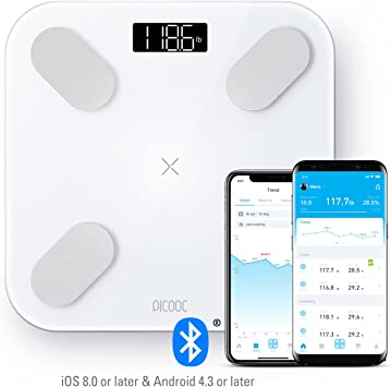 Amazon.com: picooc Big Pro inteligente Bluetooth Cuerpo ...