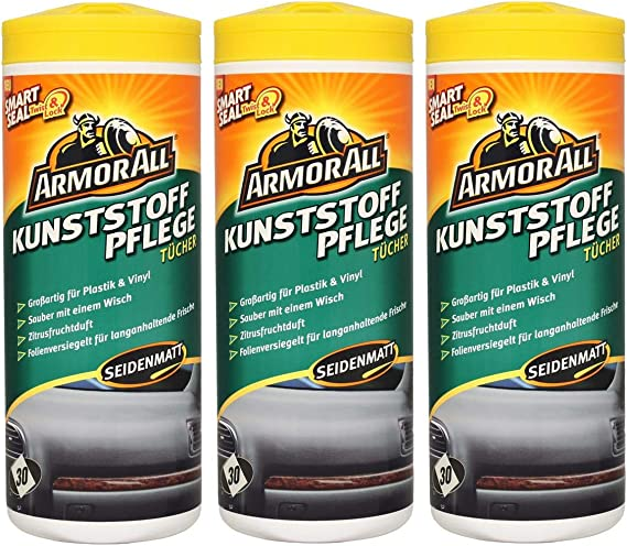 Armor All 3x Kunststoff Pflege Tücher Kunststoffpfleger Matt 30 Stk Küche Haushalt