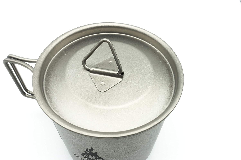 OUTDOOR NINJA Titan Tasse en Titane 420 ML avec Couvercle et cuill/ère