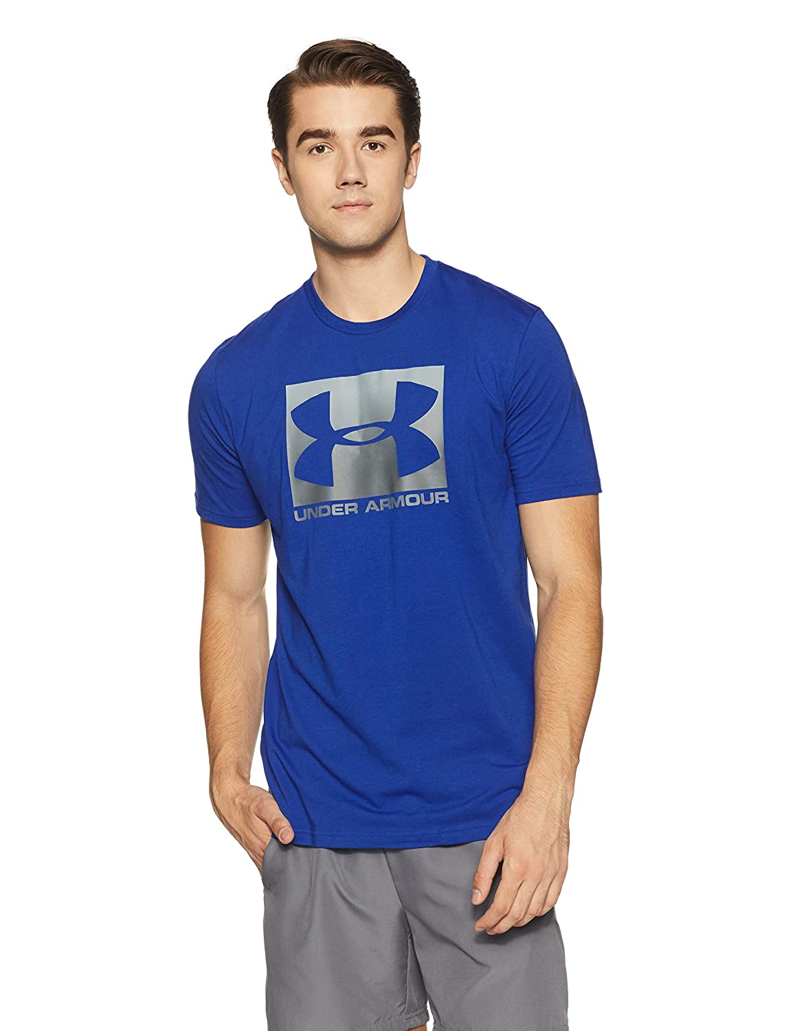 Under Armour Boxed Sportstyle Mens Short Sleeve Shirt Men39s Digital Circuit Board Tshirt 2xlarge Light Blue Clothing Sports Outdoors