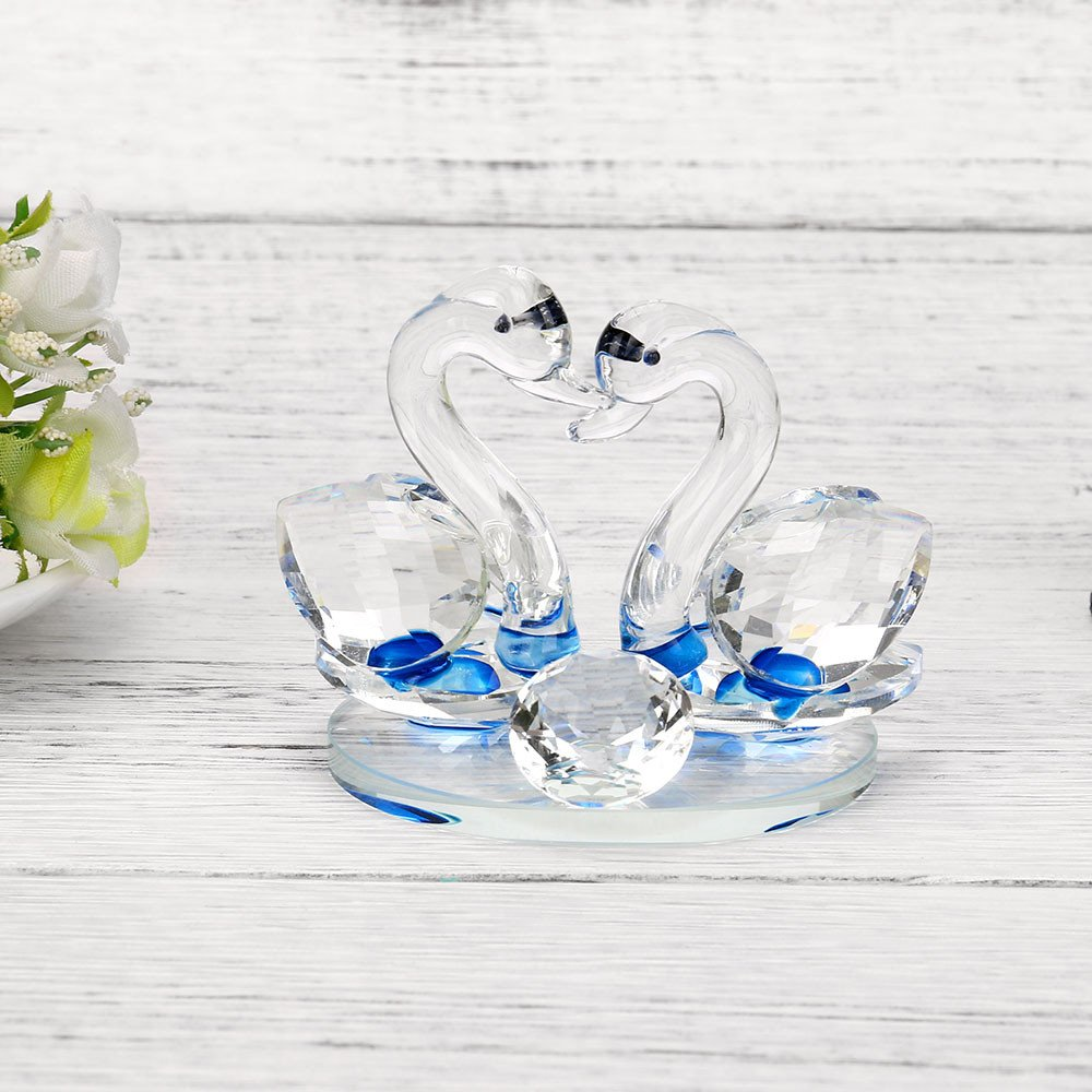 ToDIDAF Crystal Swan Briefbeschwerer Elegantes Handwerk f/ür Zuhause//Wohnzimmer//Hochzeitsdekoration Angesicht zu Angesicht A Paar Schwan Glasfigur