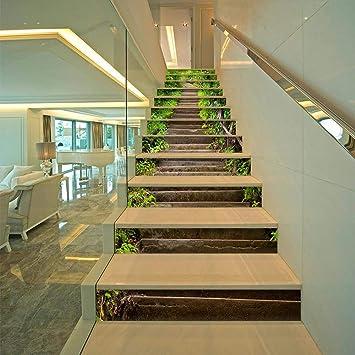 Pegatinas creativas para escaleras, escalones de piedra simples, calcomanías para escaleras de carretera, adhesivos para escalones, adhesivos de pared, 13 hojas de 100 * 18 cm: Amazon.es: Bricolaje y herramientas