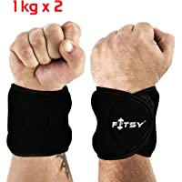 Fitsy Fitness Exercise Wrist Weights (1.0 Kg)