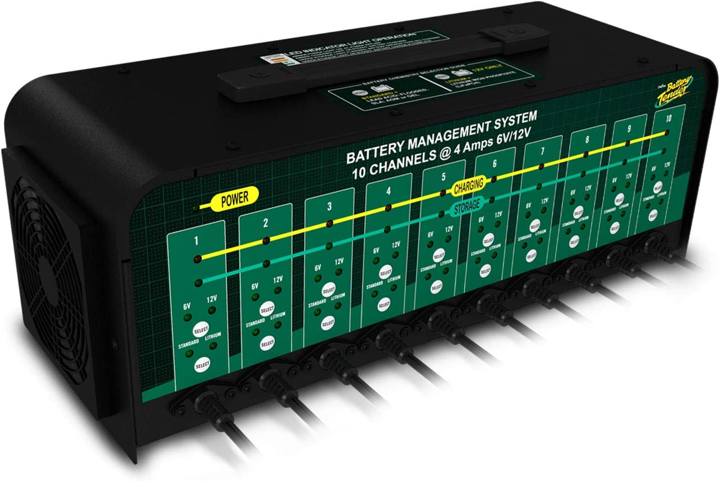 Battery Tender 10-Bank 6V/12V, 4A Selectable Battery Charger 71jF5aFEhCL