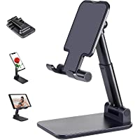 Adjustable Cell Phone Desk Holder Stand Foldable Compatible for Smartphone iPhone 12 11 Pro Max SE XS XR 8 Plus 6 7…
