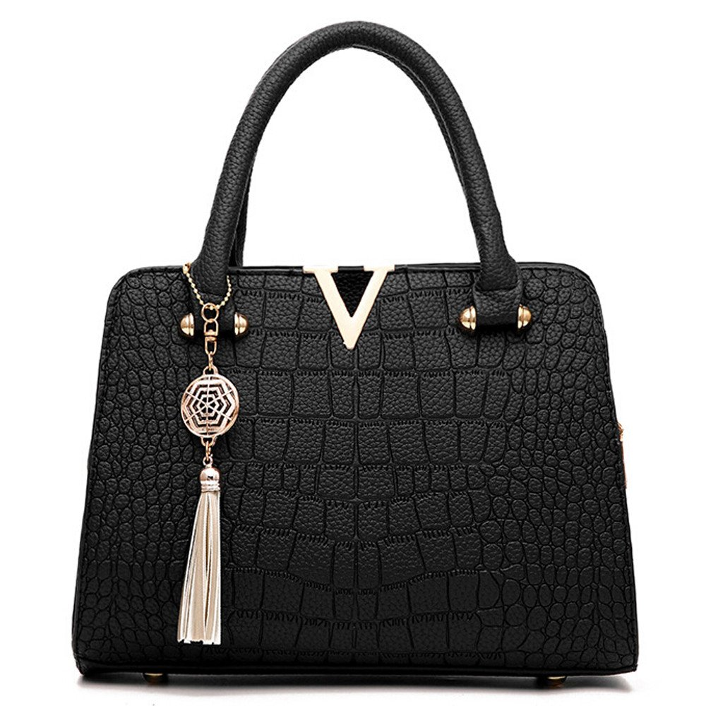 Fashion Women Bag! ZOMUSAR Women's Fashion PU Leather Shoulder Bag Alligator Pattern Ladies Crossbody Handbag (Black) by ZOMUSAR