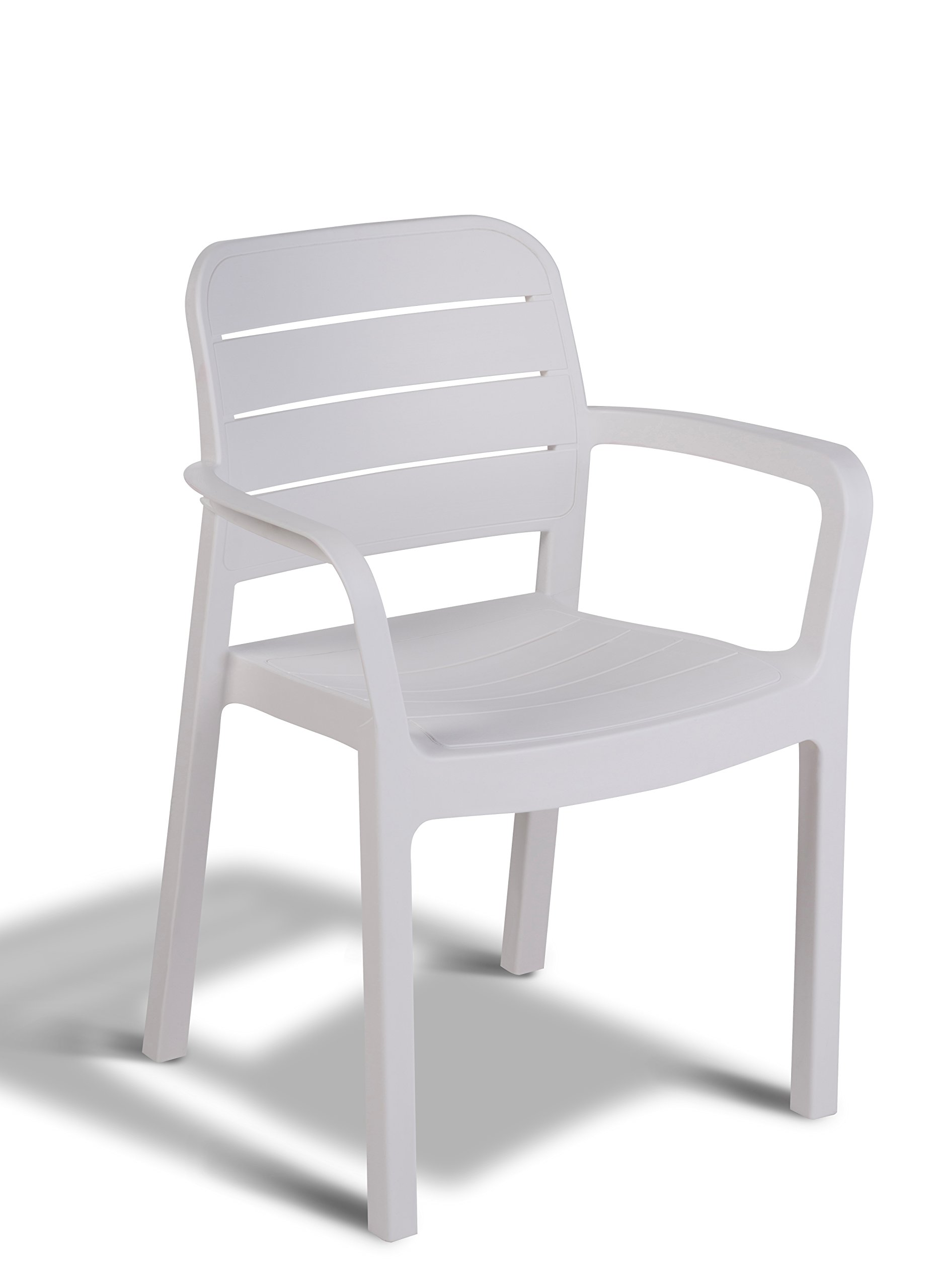 Keter - Silla de jardín exterior Tisara, Color blanco product image