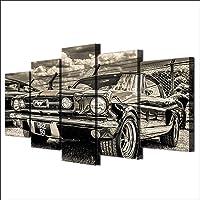 FSHH Canvas afdrukken canvas foto's XXL 5-delig 1965 Mustang sportwagen Hd gedrukt 5 stuks canvas muurkunst schilderij…