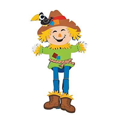 Scarecrow Clothespin Craft Kit -12 - Crafts for Kids and Fun Home Activities: Toys & Games