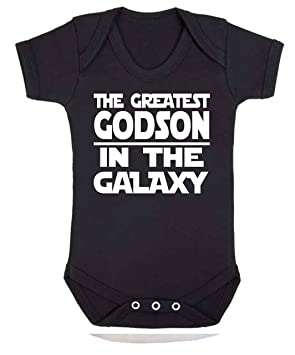 a9f9ab629f83 Greatest Grandson in the Galaxy Star Wars Novelty baby vest ...