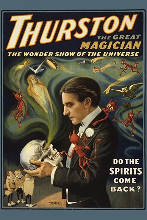 Thurston The Great Magician Skull Spirits Poster 12x18 Inch