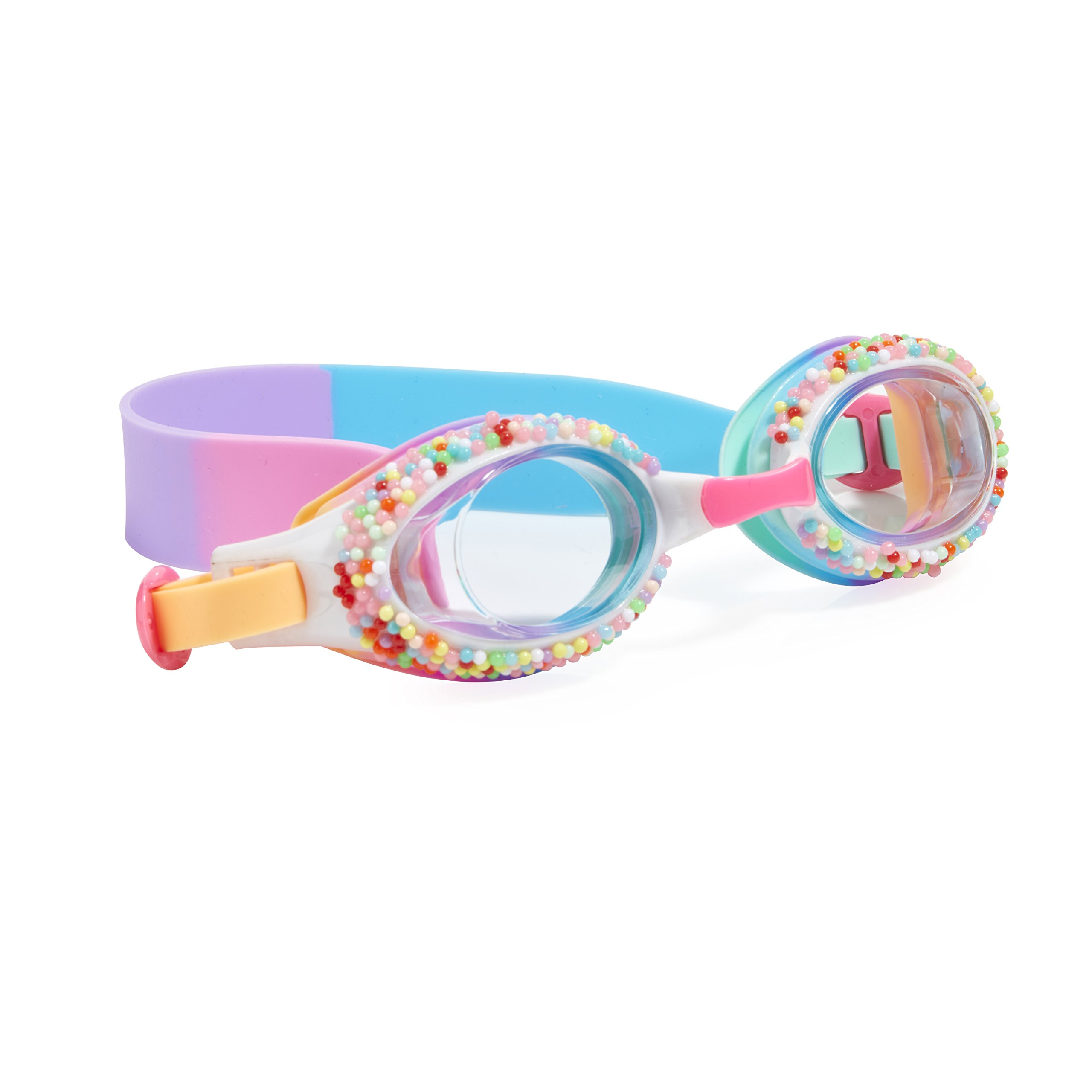 Swimming Goggles For Kids by Bling2O - Anti Fog, No Leak, Non Slip and UV Protection - Plunge Pink&Purple Colored Fun Water Accessory Includes Hard Case
