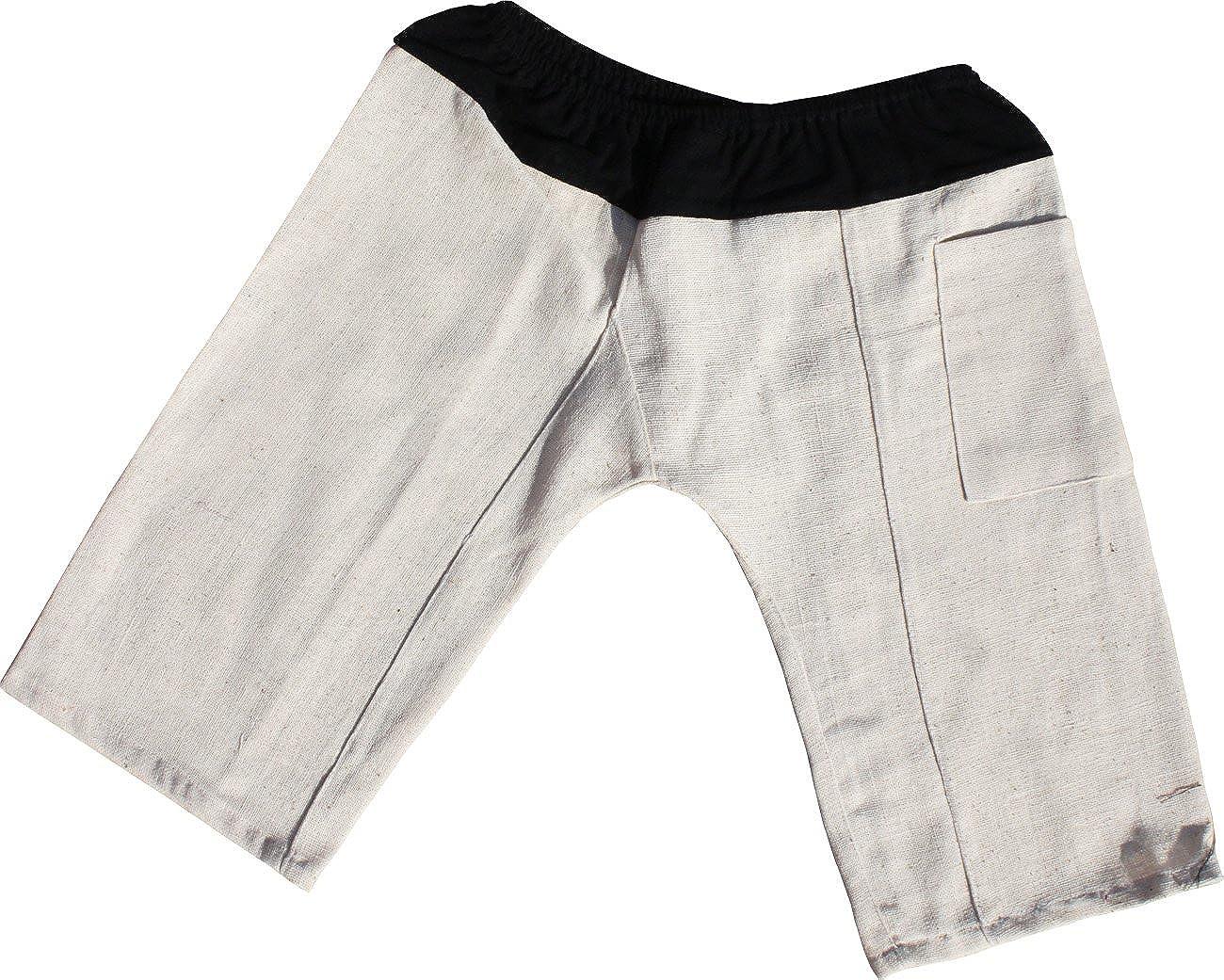 Raan Pah Muang RaanPahMuang Thick Handewoven Hum Cotton Childrens Baggy Elastic Waist Pants variant25570AMZ