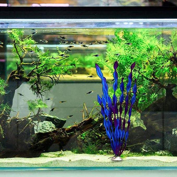gaeruite Plantas acuáticas Artificiales, 30 cm de Altura, de simulación Viva, para Acuario, para decoración de Acuario, Morado, as Show: Amazon.es: Hogar