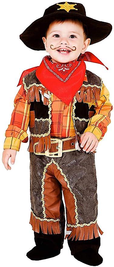 COSTUME di CARNEVALE da PICCOLO COWBOY vestito per neonato bambino 0-3 Anni  travestimento veneziano 3055bd69e2f5