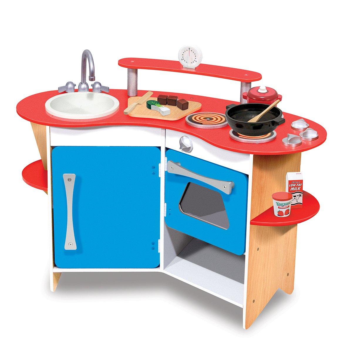Melissa & Doug 13950 Cooks Corner Wooden Kitchen: Amazon.co.uk: Toys ...