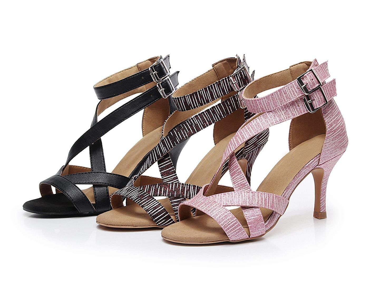 HhGold Damen Soft Rubber Sole Latin Knöchelriemen Rosa Latin Sole Salsa Tanzschuhe Hochzeit Schuhe UK 6 5 (Farbe   - Größe   -) da53b9