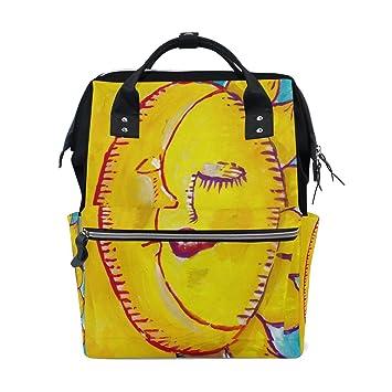 Sun Moon Art - Mochila para la Escuela, Bolso de Viaje, Bolso de Viaje, Bolso de pañales de Gran Capacidad: Amazon.es: Electrónica