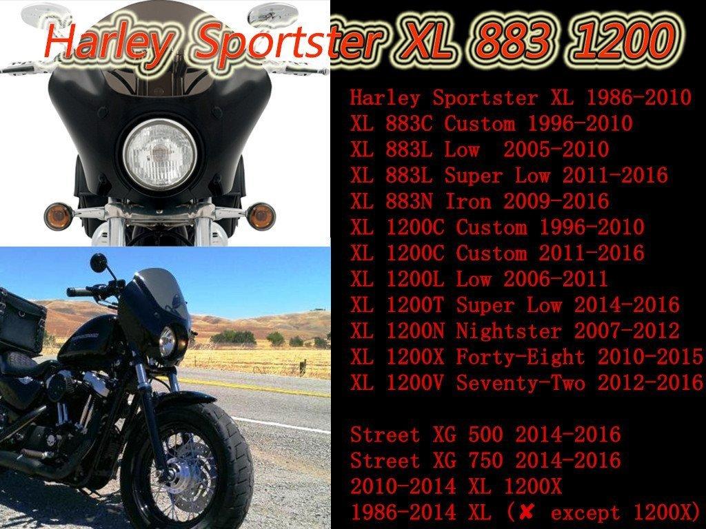 Aochuang Gauntlet Scheinwerfer Verkleidung Maske Mit Trigger Lock 2014 Harley Xl1200v Wiring Diagram Halterung Smoke Schwarz Fr 19862016 Sportster Xl 883 1200 Auto