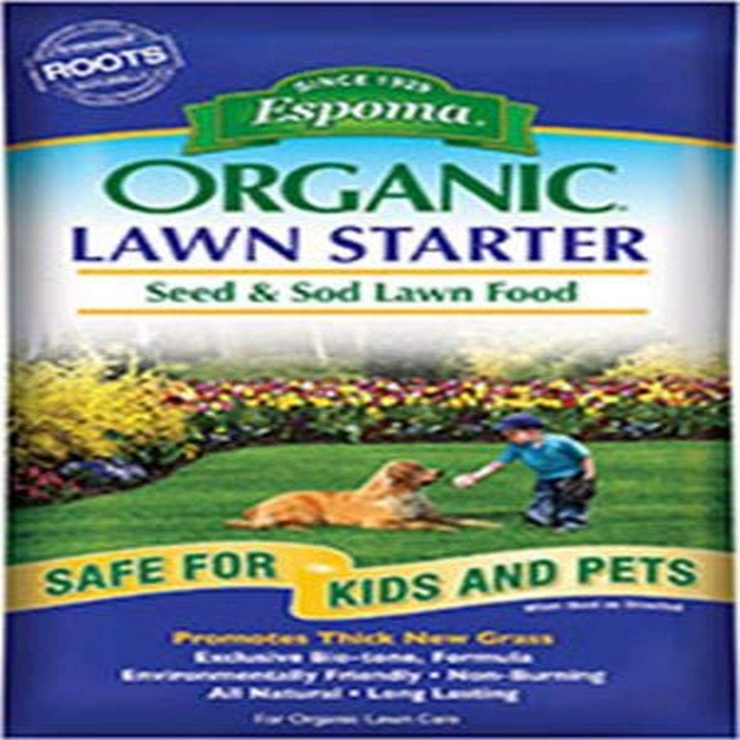 Espoma LS36 Organic Lawn Starter Seed and Sod Food Fertilizer, 36 lb