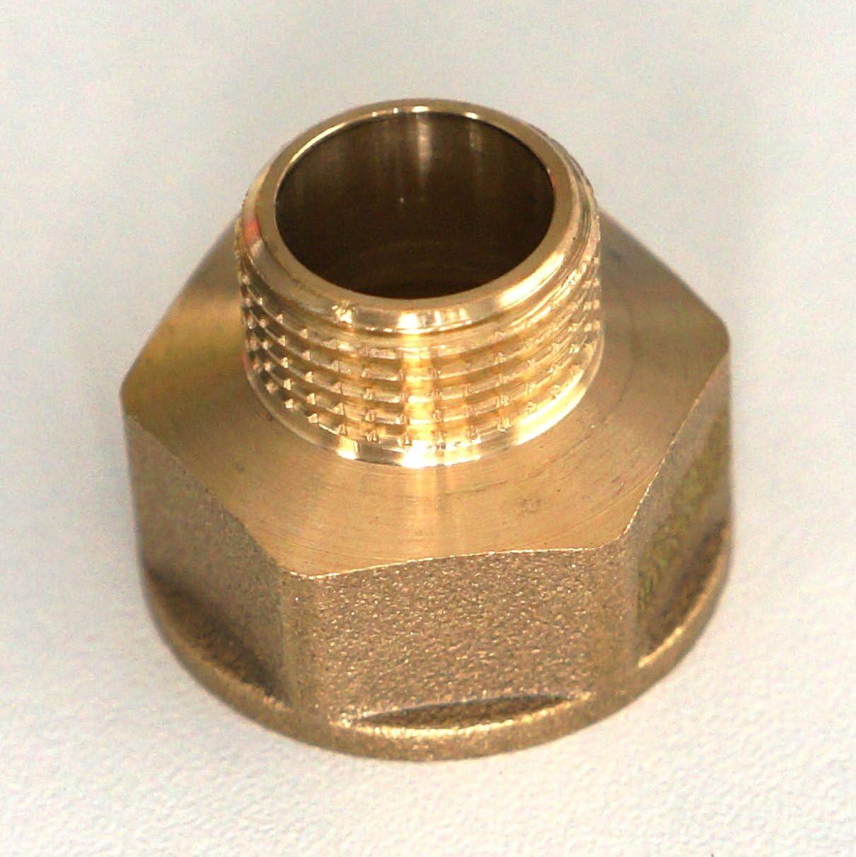 Connecteurs de r/éduction de douille en laiton BSP m/âle 1//2 x 3//8 de haute qualit/é