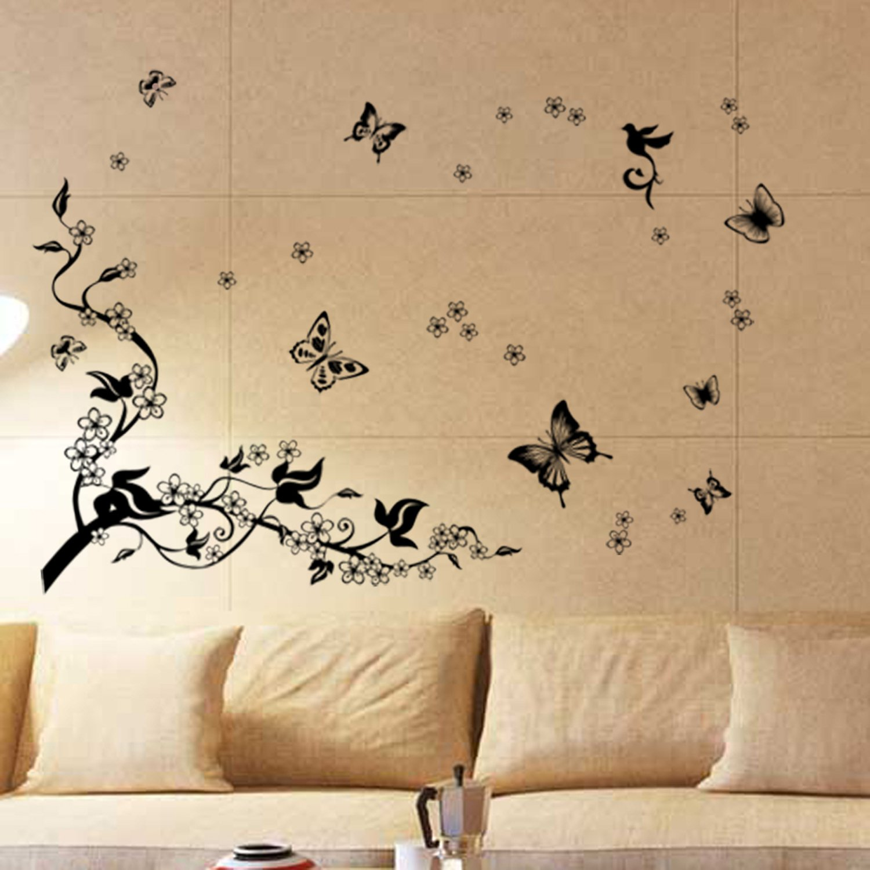 Walplus Removable Vinyl Wall Art Sticker, Dancing Butterflies and ...