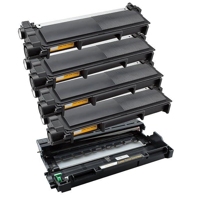PlatinumSeries 1 Tambor y 4 t/óners Super-XL para Brother DR-2300 TN-2320 HL-L2300D L2340DW L2360DN L2365DW MFC-L2700DW L2700DN L2740DW DCP-L2500D L2520DW L2540DN L2560DW L2700DW