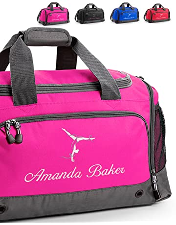 Harlequin Designs Personalised Embroidered Gymnastics Bag, Holdall 7b1448b8f5