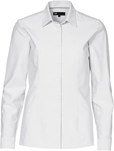 ID - Camisas - Button Down - Manga Larga - para mujer Blanco ...