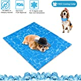 N&R Dog Cooling Mat/Pad/Bed - Cool Gel Technology - Help Your Pet Stay Cool and Reduce Joint Pain - Prevent Overheating and Dehydration - Ideal for Outdoor Home and Travel