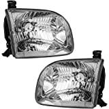 Driver and Passenger Headlights Headlamps Replacement for Toyota Pickup Truck SUV 811500C020 811100C020