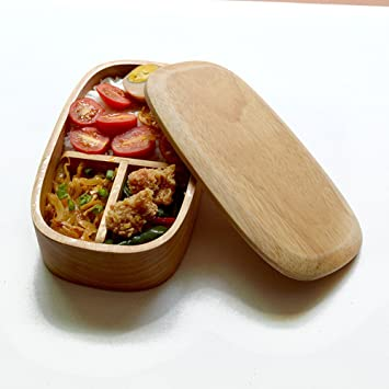 Edelstahl Student Bento Lunch Box Oval Fall Single Layer Geschirr Food