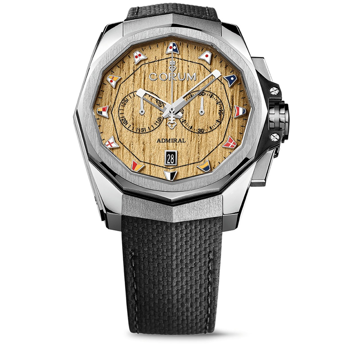 Corum Men's Admiral Ac-One 45 45mm Black Leather Band Steel Case Automatic Watch 116.101.20/F249 AW02