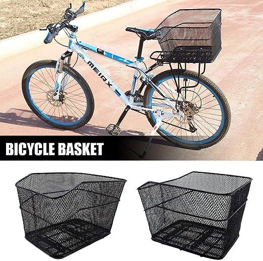 Cesta para bicicleta plegable trasera enrejado metálico delantero ...
