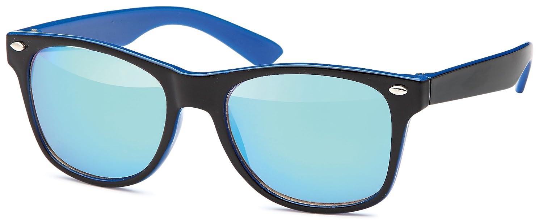 Kinder Wayfarer-Sonnenbrille mit verspiegelten Gläsern- UV 400 Filter und CE-Prüfzeichen N543