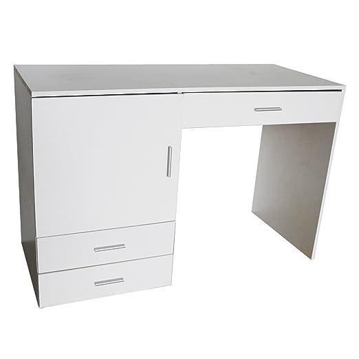 Máquina de coser mesa escritorio blanco 115 x 50 x 75 cm MDF Mesa ...