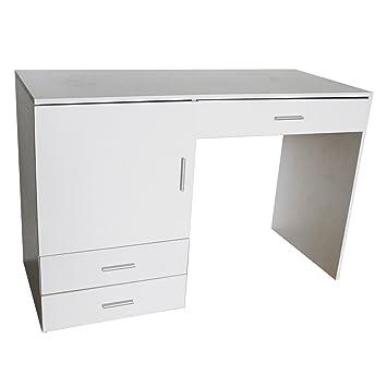 Máquina de coser mesa escritorio blanco 115 x 50 x 75 cm MDF Mesa de trabajo Mesa pc de mesa: Amazon.es: Hogar