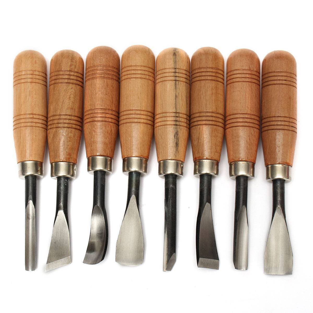 Wood Sculpture Carving Chisel Tool Set DIY Art Craft(8 Pcs) EVINIS