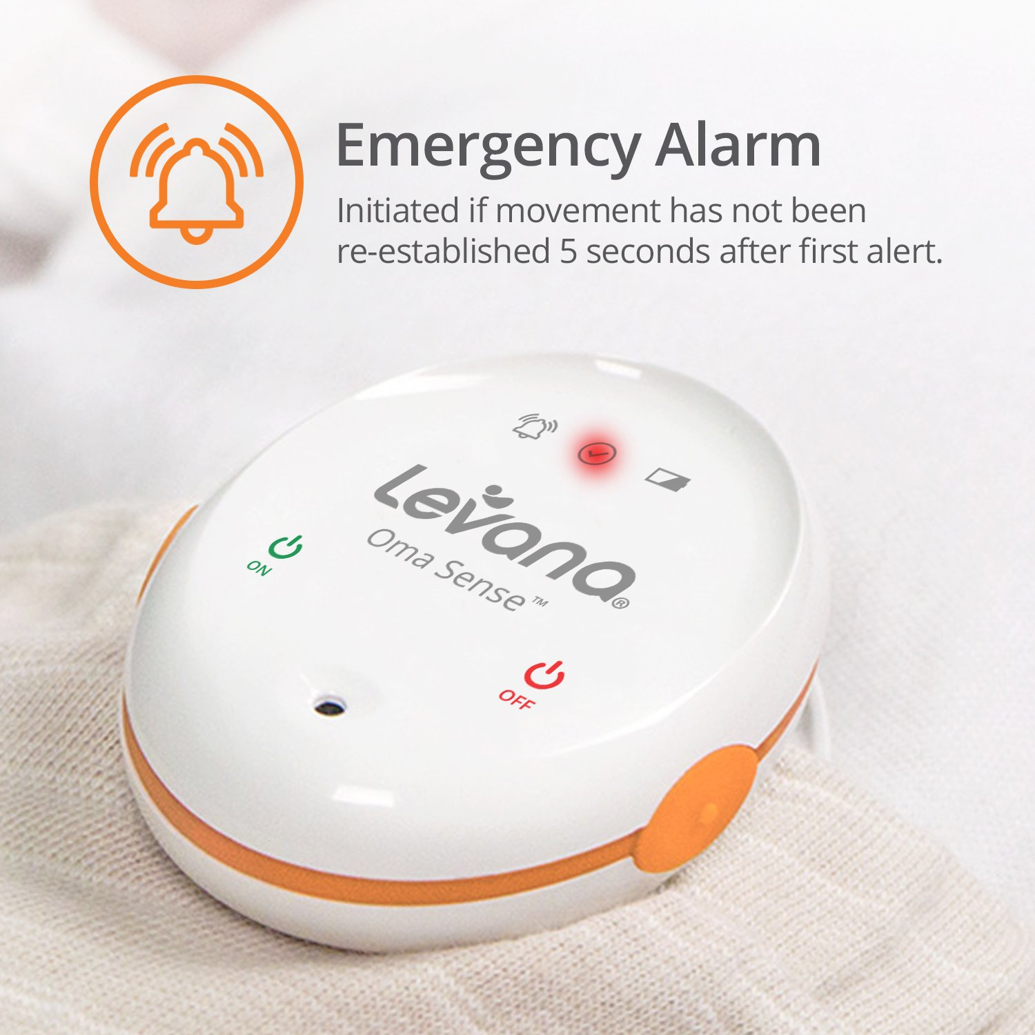 Levana Oma Sense Portable Baby Breathing Movement Monitor with Vibrations and Audible Alerts Designed to Stimulate Baby and Alert Parents by Levana (Image #4)