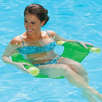 SwimWays (Set/2) Floating Pool Noodle Sling Mesh Chairs - Water Relaxation: Toys & Games