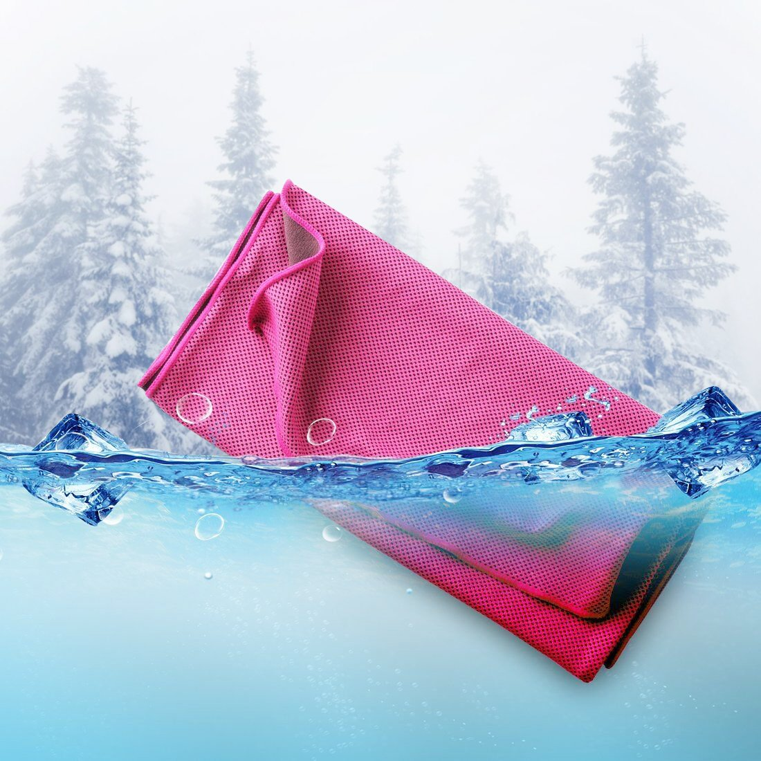 Parasky Cooling Towel,Soft Breathable Chilly Towel,Microfiber Cooling Towel for Sports, Camping,Gym Workout, Yoga, Chilling Neck Wrap, Instant Chilling Cold Towels,Ice Cold Scarf for Men Women (Red)