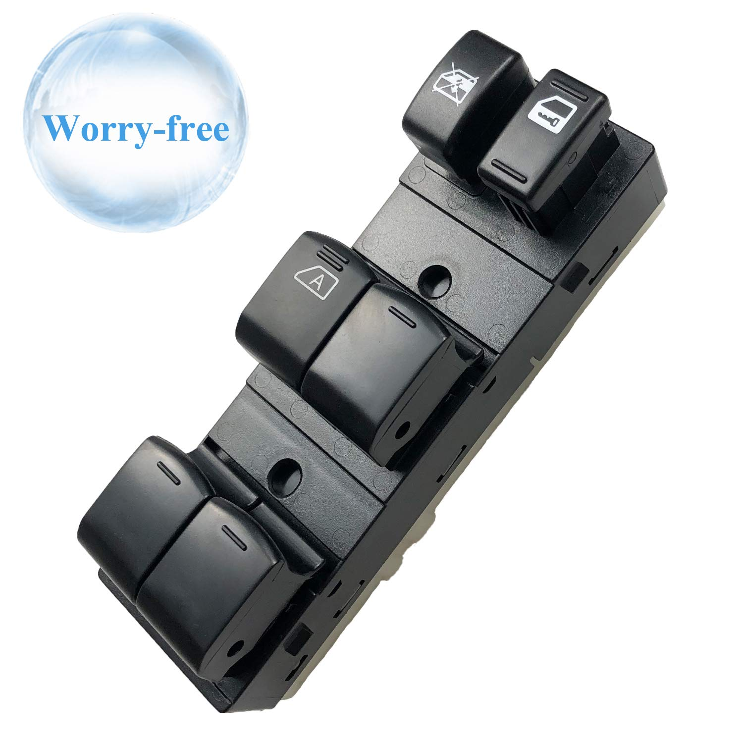 Trim: Base, Hybrid, S Fits 25401-ZN40C Master Power Window Switch Replacement for 2007-2012 Nissan Altima